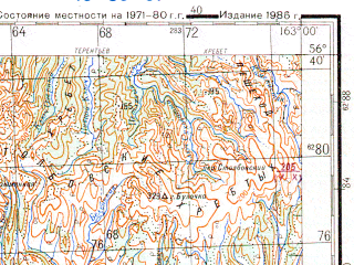 Reduced fragment of topographic map ru--gs--200k--o58-31--N056-40_E162-00--N056-00_E163-00 in area of Ozero Stolbovoe; towns and cities Ust'-kamchatsk, Krutoberegovo, Kultuk, Nizhnekamchatsk