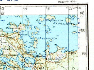 Download topographic map in area of Kouvola Kuusankoski