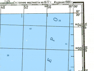 Reduced fragment of topographic map ru--gs--200k--p36-29_30--N061-20_E034-00--N060-40_E036-00 in area of Lake Onega; towns and cities Podporozh'ye, Voznesen'ye, Kaskesruchey