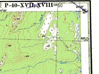 Reduced fragment of topographic map ru--gs--200k--p40-17_18--N062-40_E058-00--N062-00_E060-00