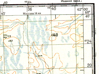 Reduced fragment of topographic map ru--gs--200k--p41-31_32--N060-40_E060-00--N060-00_E062-00; towns and cities Maslovo, Mityayevo, Sama