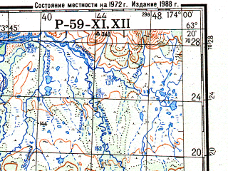 Reduced fragment of topographic map ru--gs--200k--p59-11_12--N063-20_E172-00--N062-40_E174-00