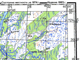 Reduced fragment of topographic map ru--gs--200k--q40-23_24--N066-00_E058-00--N065-20_E060-00; towns and cities Vylyu, Dzhintuy, Kosyu