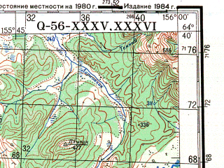 Reduced fragment of topographic map ru--gs--200k--q56-35_36--N064-40_E154-00--N064-00_E156-00 in area of Sugoj Hetagcan