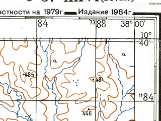 Reduced fragment of topographic map ru--gs--200k--xc37-26--S010-40_E037-00--S011-20_E038-00; towns and cities Nakapanya, Namasakata, Nampungu