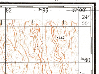 Reduced fragment of topographic map ru--gs--200k--xg33-03--S024-00_E014-00--S024-40_E015-00