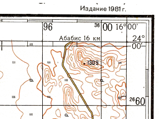 Reduced fragment of topographic map ru--gs--200k--xg33-04--S024-00_E015-00--S024-40_E016-00