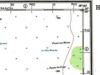 Reduced fragment of topographic map ru--gs--500k--d33-4--(1979)--N014-00_E015-00--N012-00_E018-00 in area of Lac Fitri; towns and cities N'djamena, Kousseri, Taboy, Abrania