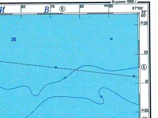 Reduced fragment of topographic map ru--gs--500k--f16-3--N022-00_W090-00--N020-00_W087-00; towns and cities Merida, Valladolid, Ticul, Tizimin, Uman