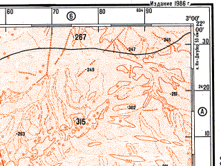Reduced fragment of topographic map ru--gs--500k--f30-3--N022-00_W006-00--N020-00_W003-00