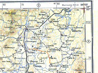 Download topographic map in area of Kazet Zigon Kyunbyintha