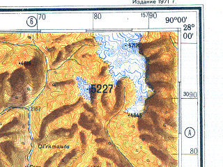 Reduced fragment of topographic map ru--gs--500k--g45-2--N028-00_E087-00--N026-00_E090-00; towns and cities Thimphu, Domar, Netap, Hathikharka
