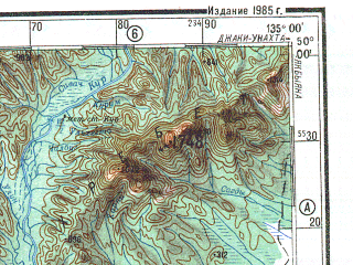 Reduced fragment of topographic map ru--gs--500k--m53-3--N050-00_E132-00--N048-00_E135-00; towns and cities Birobidzhan, Smidovich, Alekseyevka, Bira, Churki