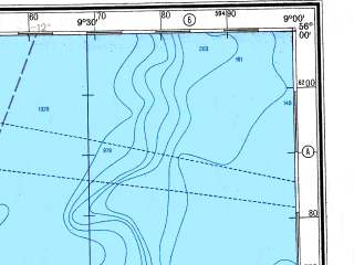 Reduced fragment of topographic map ru--gs--500k--n29-1--N056-00_W012-00--N054-00_W009-00 in area of Carrowmore Lough; towns and cities Ballina, Bangor, Belmullet