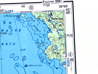 Reduced fragment of topographic map ru--gs--500k--p36-3_4--N062-00_E030-00--N060-00_E036-00 in area of Lake Ladoga, Lake Onega, P'uch'ajarvi; towns and cities Petrozavodsk, Sortavala, Podporozh'ye, Lodeynoye Pole, Pitkyaranta