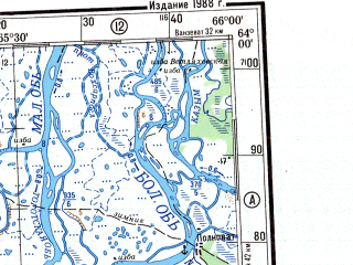 Reduced fragment of topographic map ru--gs--500k--p41-1_2--N064-00_E060-00--N062-00_E066-00 in area of Sever Sos'va, Sever Sos'va, Vogulka; towns and cities Berezovo, Shukhtungort, Nerga, Ust-manya