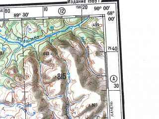 Reduced fragment of topographic map ru--gs--500k--q45-1_2--N068-00_E084-00--N066-00_E090-00 in area of Ozero Makovskoe, Ozero Mundujskoe, Kurejka; towns and cities Igarka, Serkovo, Sushkovo, Angutikha