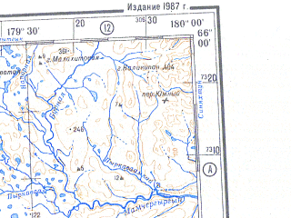 Reduced fragment of topographic map ru--gs--500k--q60-3_4--N066-00_E174-00--N064-00_E180-00 in area of Anadyrskij Liman, Ozero Krasnoe, Kancalan; towns and cities Anadyr', Shakhterskiy, Leninka, Omocha, Tadleo