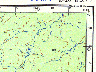 Download topographic map in area of Alvaraes Sao Luis Coanaru Boa