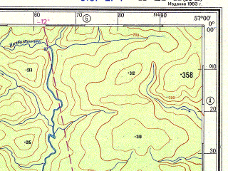 Reduced fragment of topographic map ru--gs--500k--xa21-1--N000-00_W060-00--S002-00_W057-00; towns and cities Antonio Filinto, Santa Maria