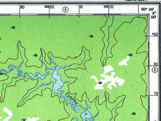 Reduced fragment of topographic map ru--gs--500k--xb20-2--S004-00_W063-00--S006-00_W060-00 in area of Lago Aiapua, Rio Tupana, Lago Taciua; towns and cities Ribamar, Boca Do Capana, Manicore
