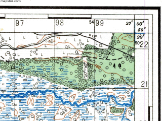 Reduced fragment of topographic map ru--rkka--050k--n35-066-2--(1938)--N054-20_E026-45--N054-10_E027-00; towns and cities Molodechno