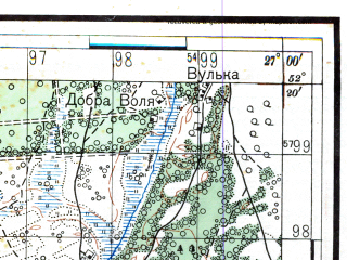 Reduced fragment of topographic map ru--rkka--050k--n35-138-2--(1938)--N052-20_E026-45--N052-10_E027-00; towns and cities Luninets