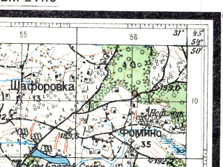 Reduced fragment of topographic map ru--rkka--050k--n36-040-3--(1931)--N054-50_E031-30--N054-40_E031-45