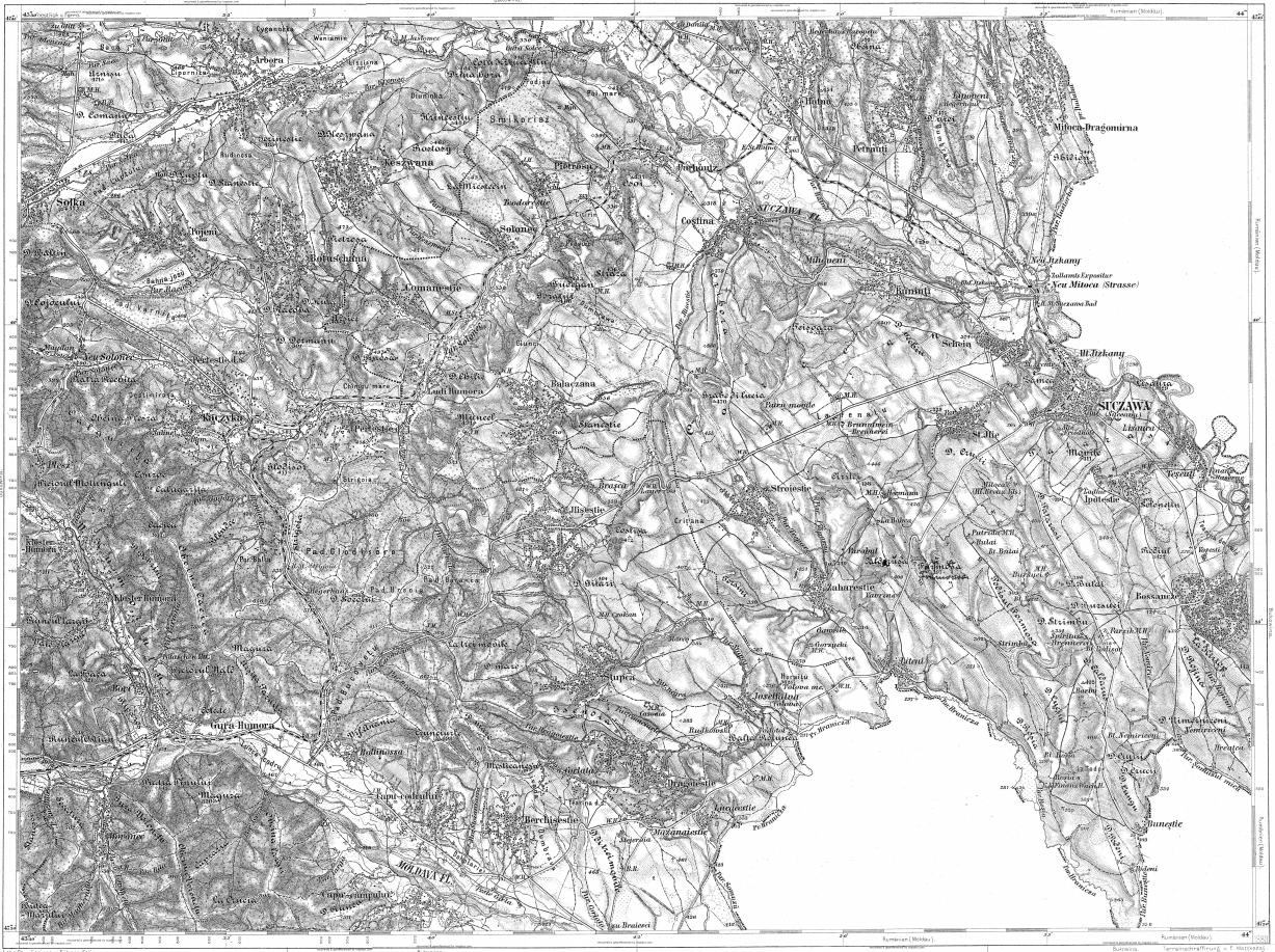 Download topographic map in area of Suceava Solca mapstorcom