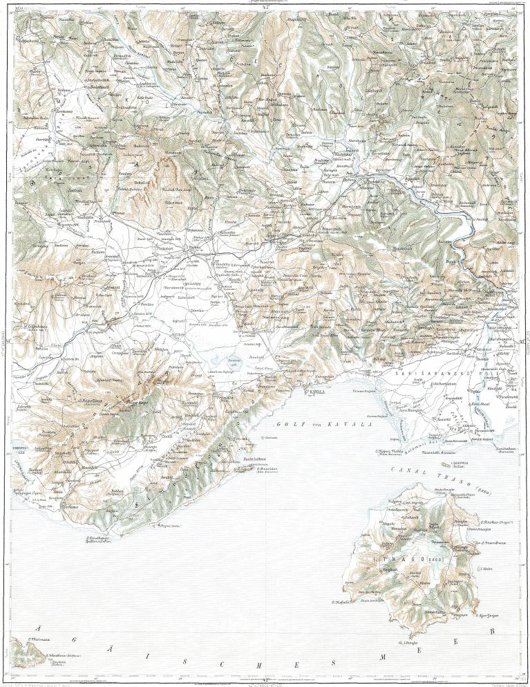 Download topographic map in area of Drama Kavala Thasos mapstorcom