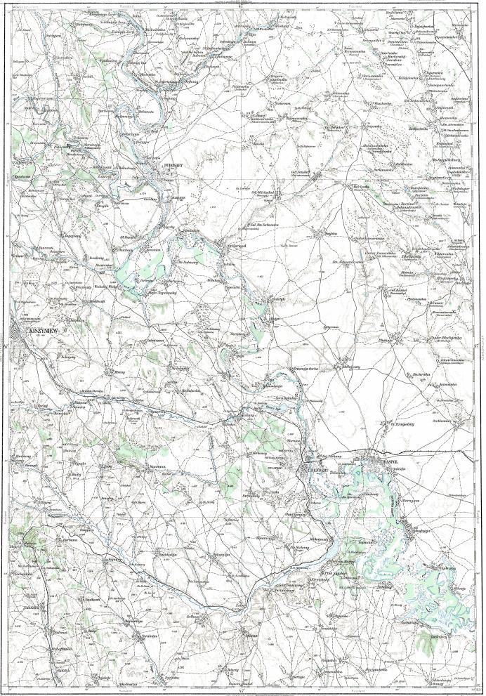Download topographic map in area of Kishinev Bendery Tiraspol