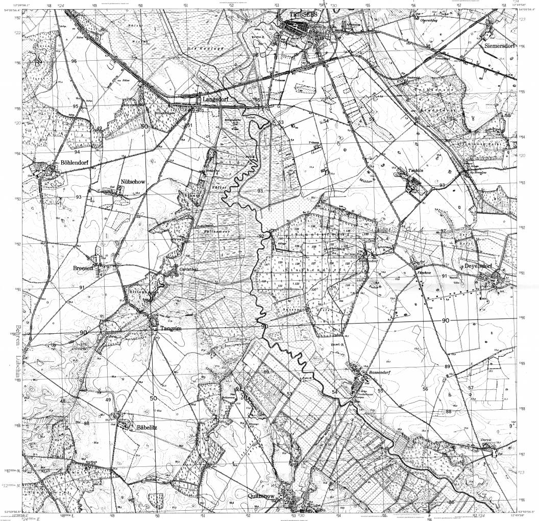 Tribsees Maps