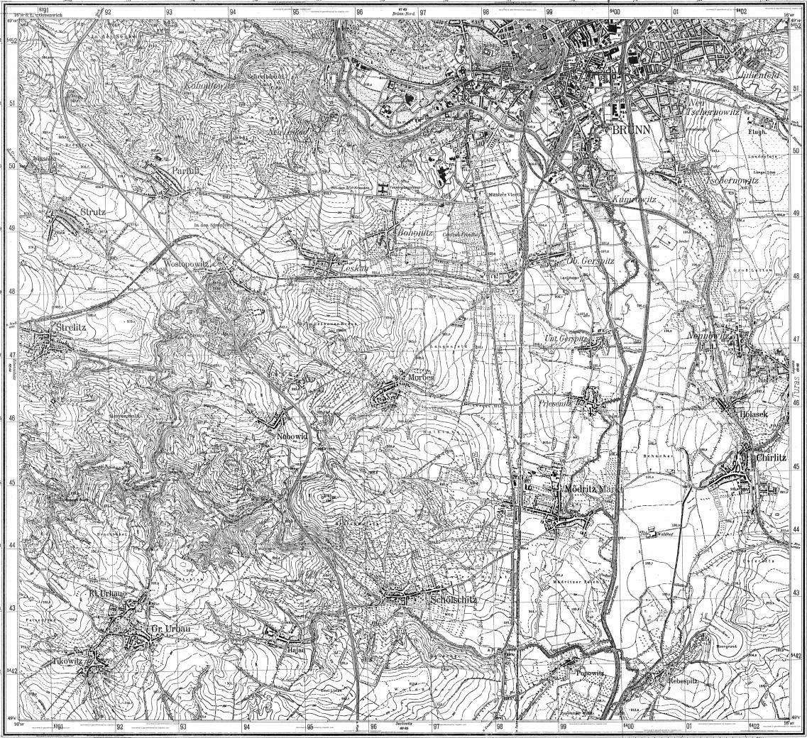Download topographic map in area of Brno mapstorcom