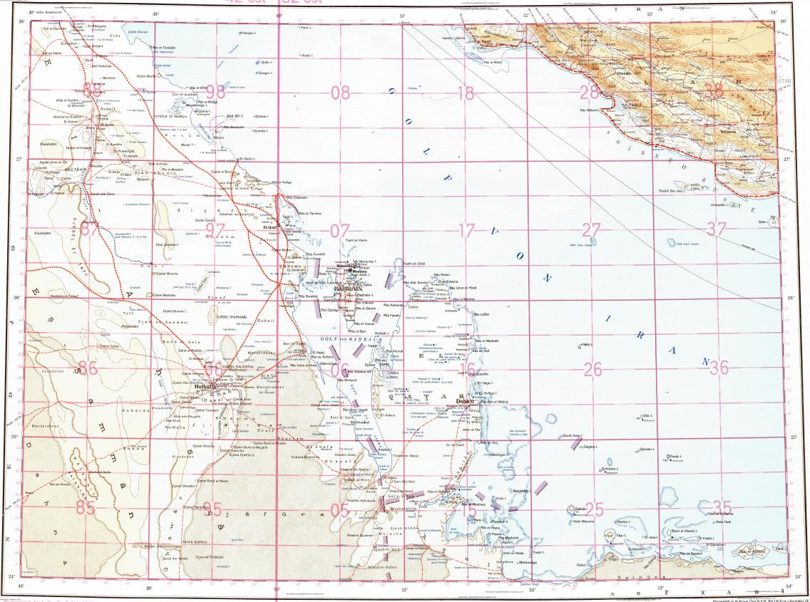 Download topographic map in area of Doha Manama Al Marah mapstorcom