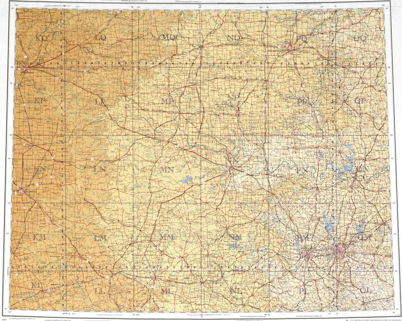 Download Topographic Map In Area Of Dallas Fort Worth Oklahoma
