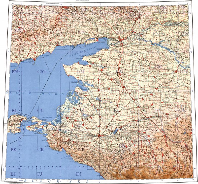 Download topographic map in area of Rostovnadonu Mariupol