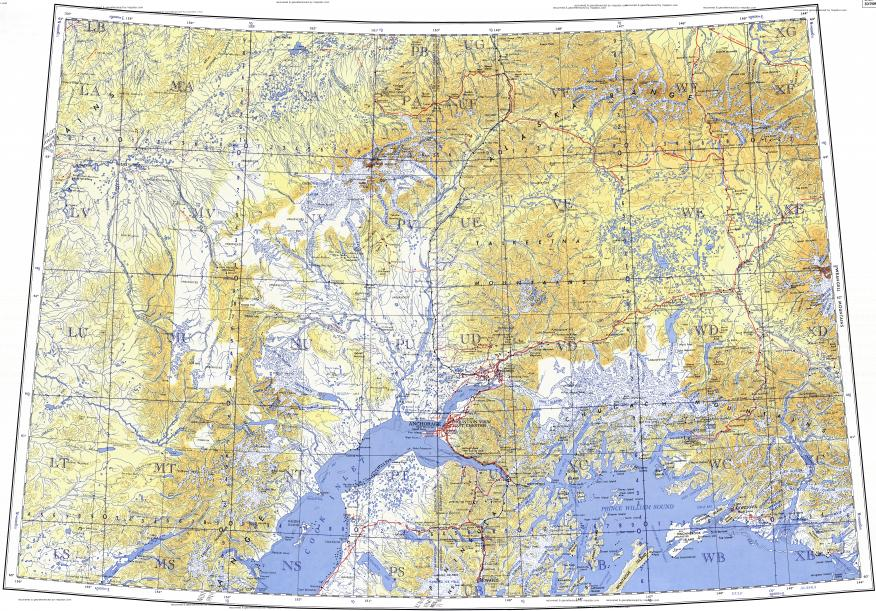 Download Topographic Map In Area Of Anchorage Knik Skwentna