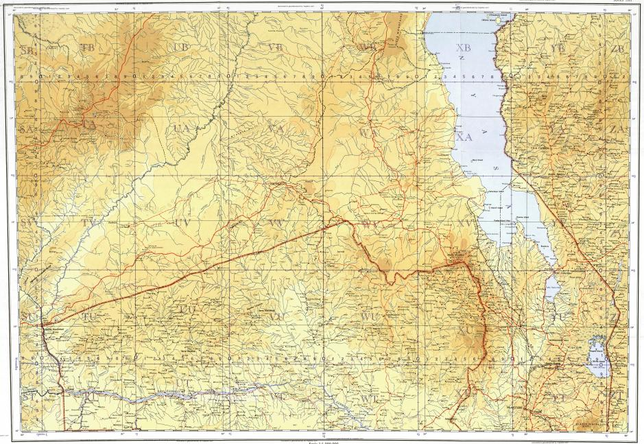 Download topographic map in area of Lilongwe Blantyre Cachomba