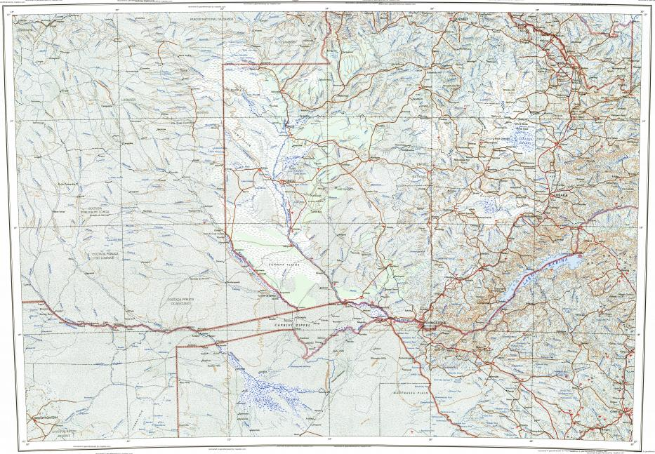 Download topographic map in area of Lusaka Kitwe Ndola mapstorcom