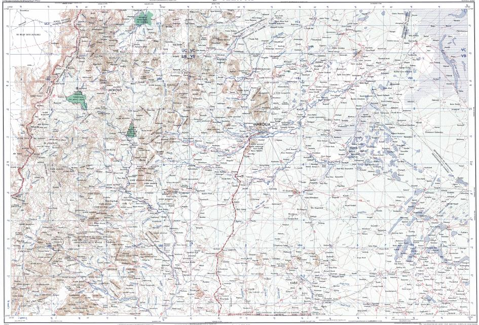Download topographic map in area of Maroua Getale Hinda Vinde