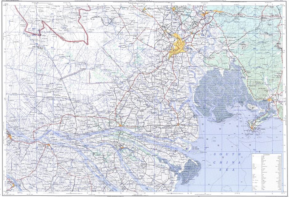 Download topographic map in area of Ho Chi Minh City Bien Hoa Can
