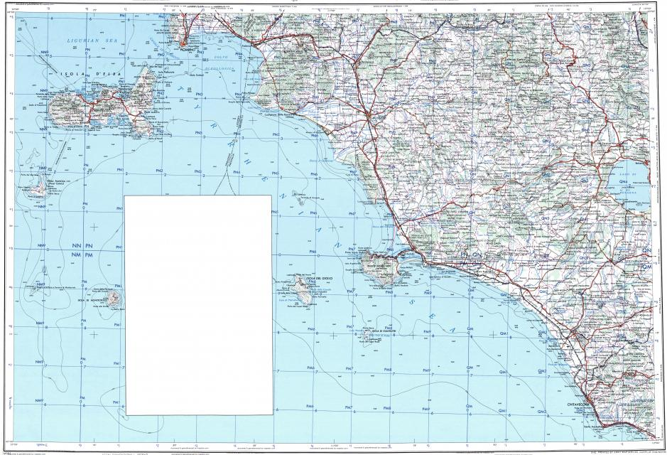 Download topographic map in area of Grosseto Piombino