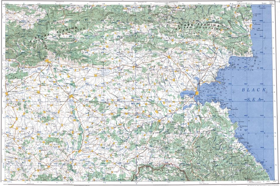 Download topographic map in area of Burgas Yambol Sliven mapstorcom