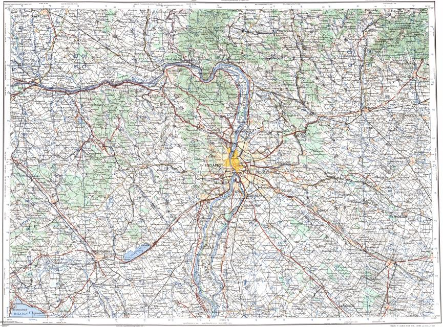 Download topographic map in area of Budapest Tatabanya