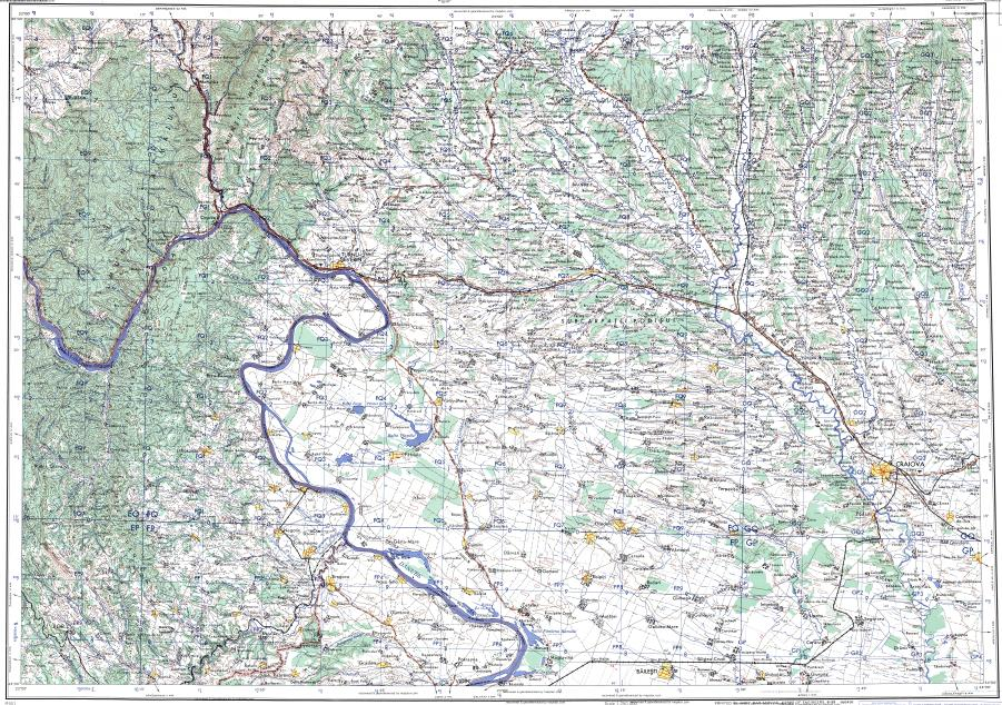 Download topographic map in area of Craiova Drobetaturnu Severin