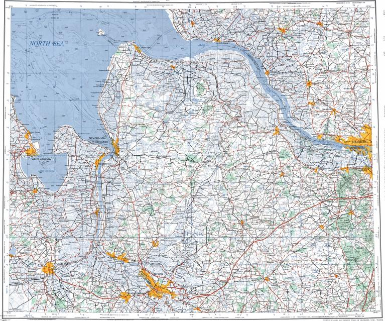 Download topographic map in area of Bremen Bremerhaven Oldenburg