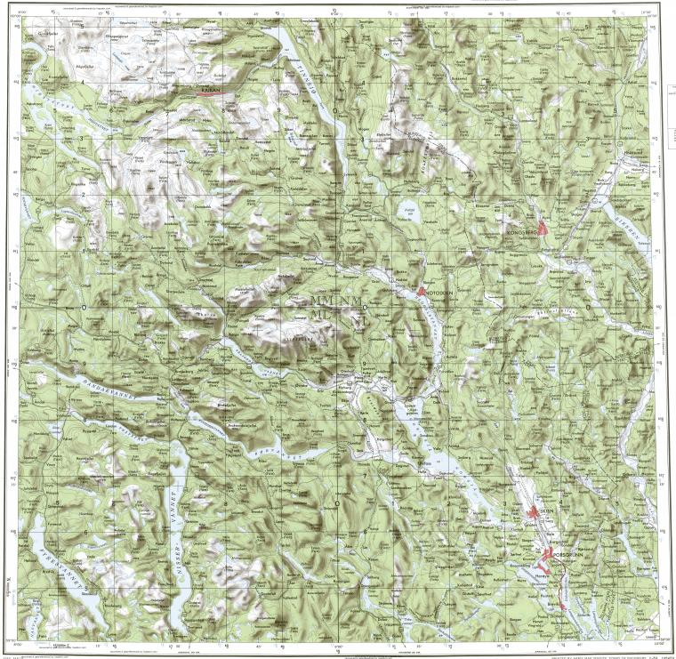 Download topographic map in area of Skien Porsgrunn Kongsberg