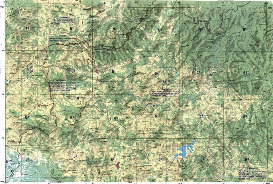 Download topographic map in area of Esteli Jinotega Los Angeles