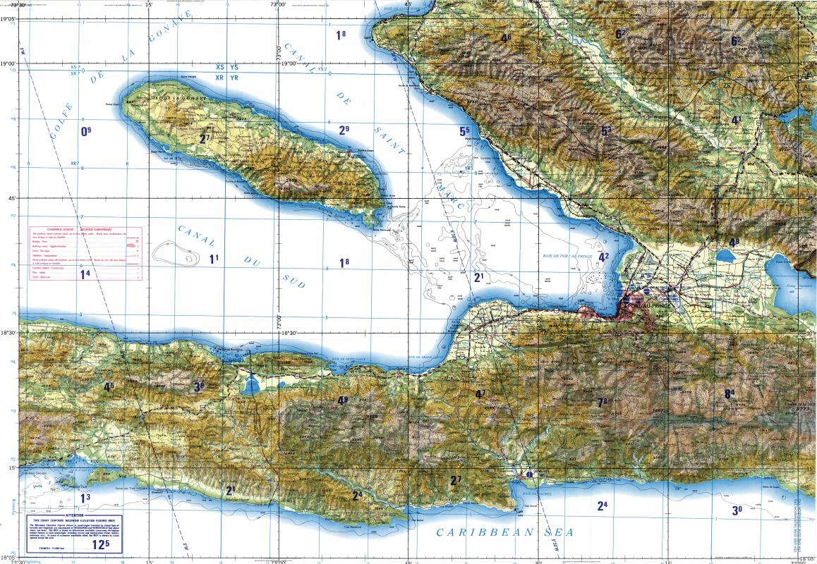 Download topographic map in area of Portauprince Jacmel Petit