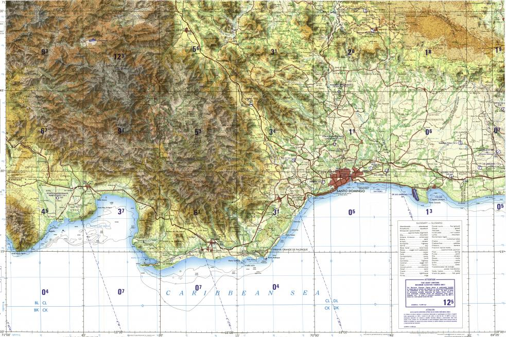 Download topographic map in area of Santo Domingo San Cristobal
